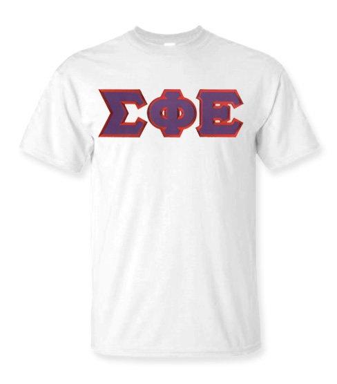 DISCOUNT Sigma Phi Epsilon Lettered T-shirt