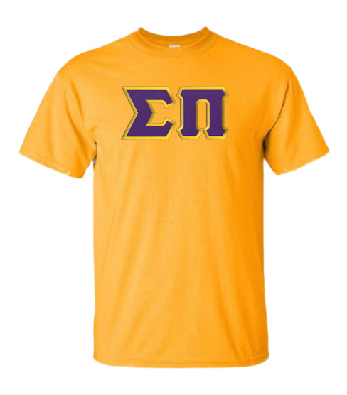 DISCOUNT Sigma Pi Lettered T-shirt