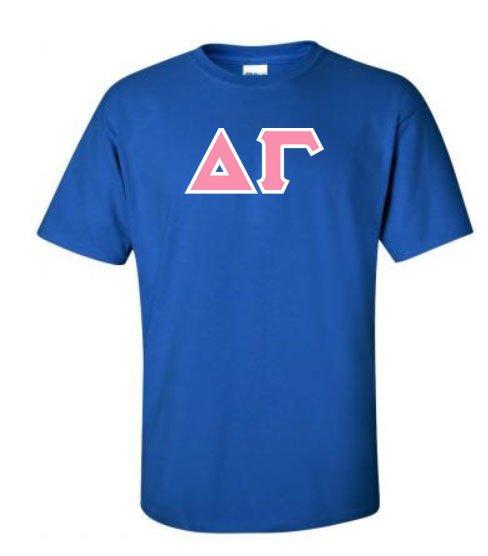 Delta Gamma Sewn Lettered Shirts