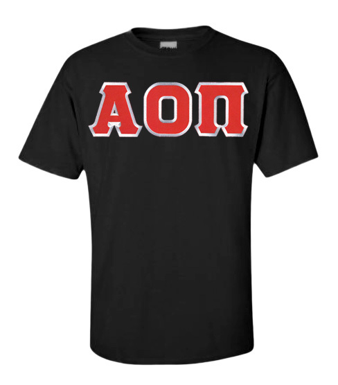 DISCOUNT Alpha Omicron Pi Lettered Tee