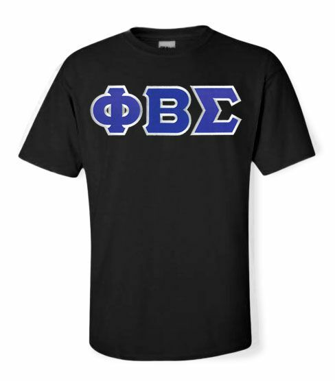 DISCOUNT Phi Beta Sigma Lettered T-shirt