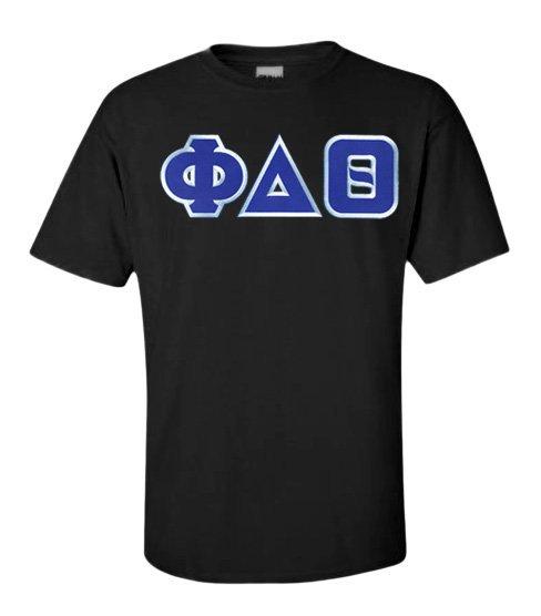 DISCOUNT Phi Delta Theta Lettered T-shirt