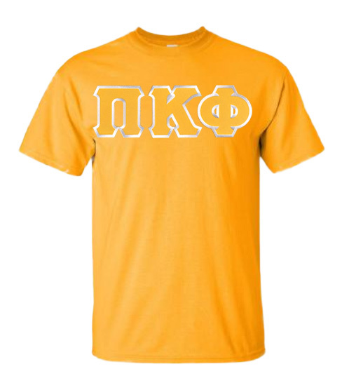DISCOUNT Pi Kappa Phi Lettered T-shirt