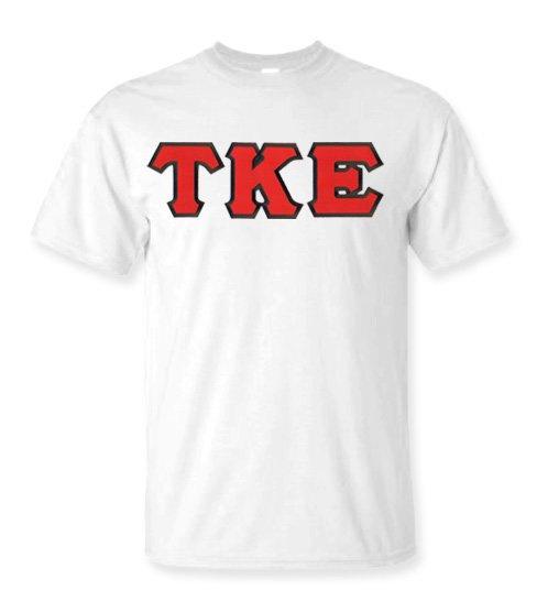 DISCOUNT Tau Kappa Epsilon Lettered Tees