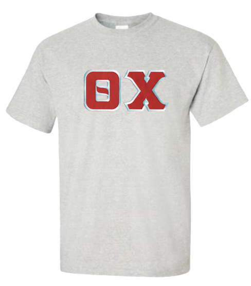 DISCOUNT Theta Chi Lettered T-shirt