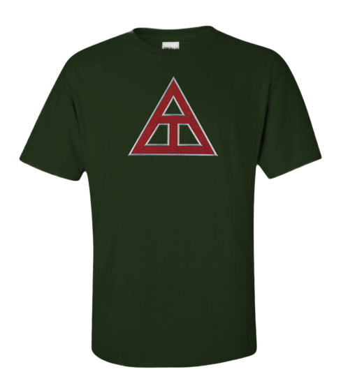 DISCOUNT Triangle Fraternity Lettered T-shirt