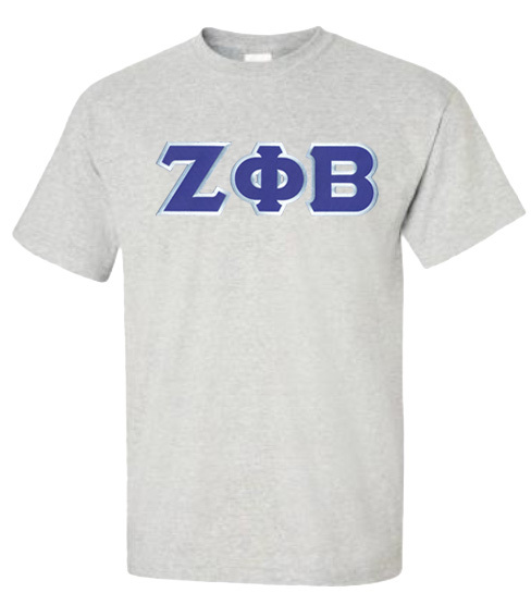 DISCOUNT Zeta Phi Beta Lettered Tee