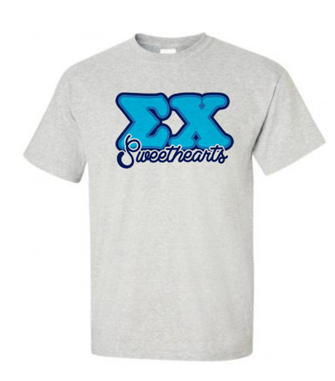 Fraternity Balloon Letter Sweethearts T-shirts