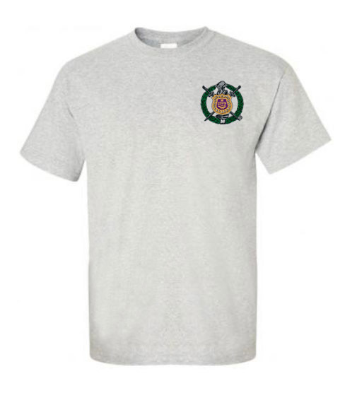 DISCOUNT-Omega Psi Phi Crest - Shield Emblem Shirt