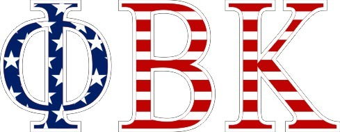"Phi Beta Kappa American Flag Greek Letter Sticker - 2.5"" Tall"
