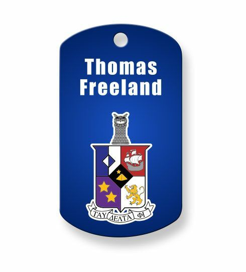 Tau Delta Phi Crest - Shield Dog Tags