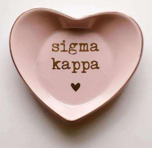 Sigma Kappa Ceramic Ring Dish