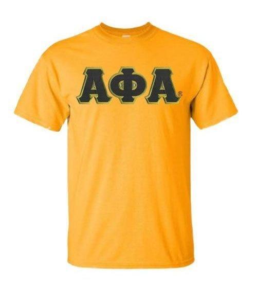 DISCOUNT Alpha Phi Alpha Lettered T-shirt