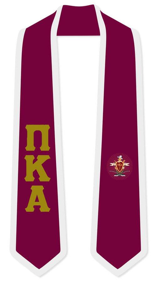 DISCOUNT-Pi Kappa Alpha Greek 2 Tone Lettered Graduation Sash Stole