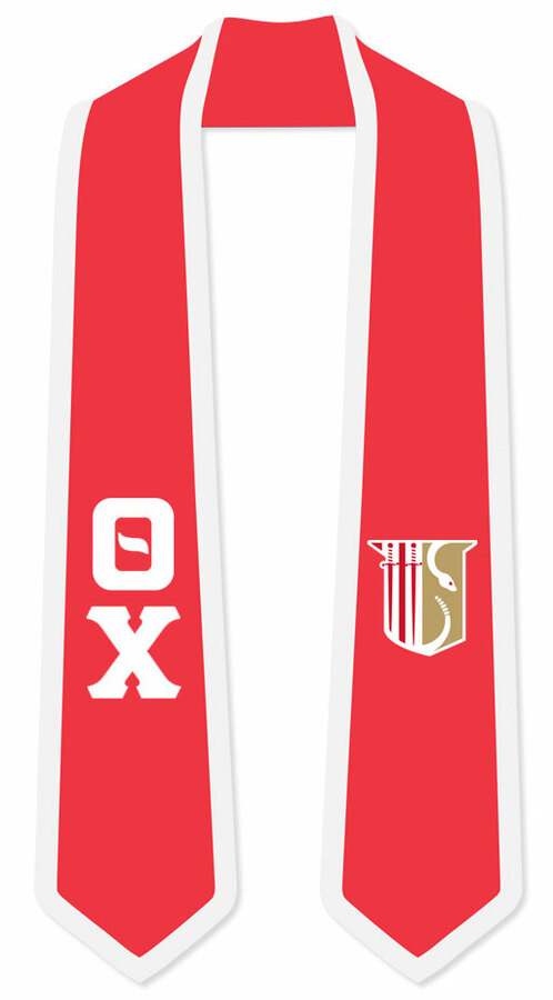 DISCOUNT-Theta Chi Greek 2 Tone Lettered Graduation Sash Stole