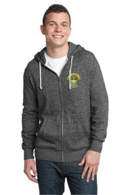 DISCOUNT-Fraternity Marled Fleece Full-Zip Hoodie