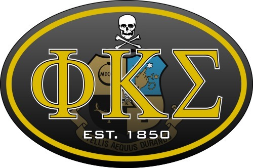 Phi Kappa Sigma Color Oval Decal