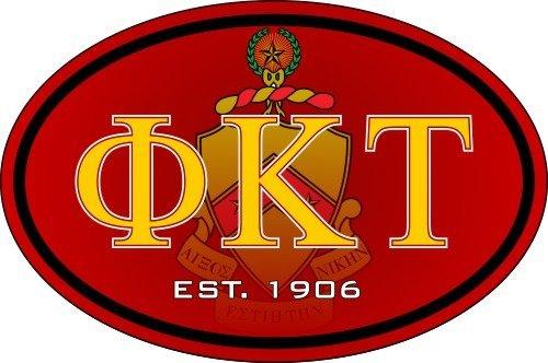 Phi Kappa Tau Color Oval Decal