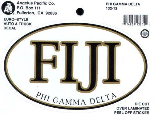 FIJI Fraternity Euro Decal Oval Sticker
