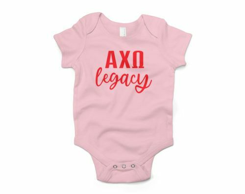 Alpha Chi Omega Legacy Baby Outfit Onesie