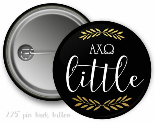 Alpha Chi Omega Little Button