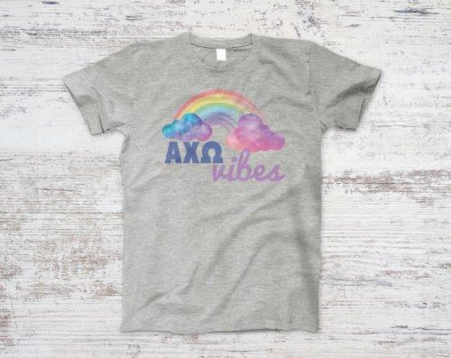 Alpha Chi Omega Rainbow Vibes Tee