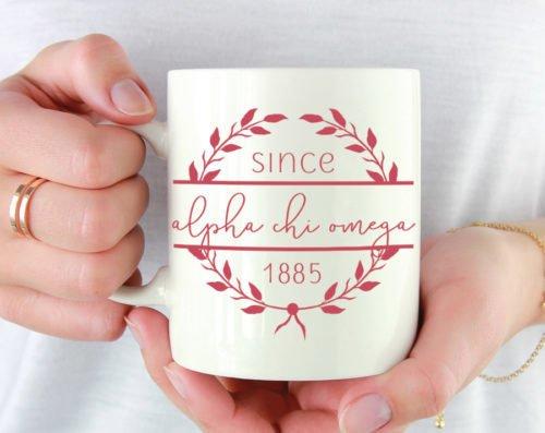 Alpha Chi Omega Since Established Coffee Mug