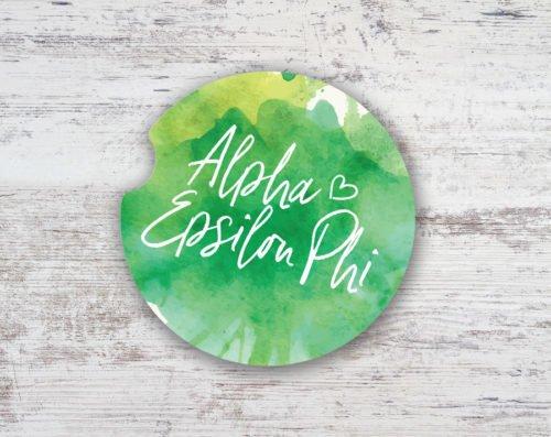 Alpha Epsilon Phi Sandstone Car Cup Holder Coaster