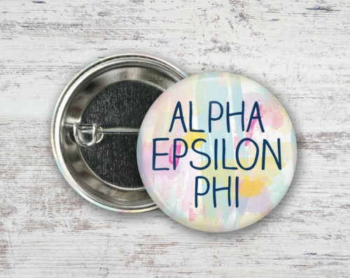 Alpha Epsilon Phi Pastel Strokes Button