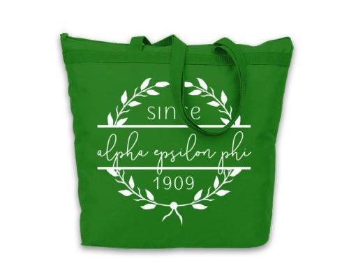 Alpha Epsilon Phi Since Established Tote bag