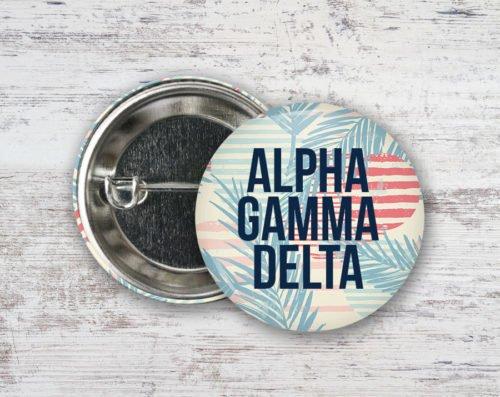 Alpha Gamma Delta Paradise Found Button