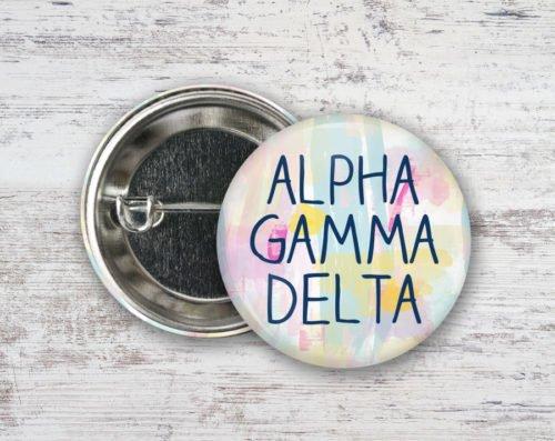 Alpha Gamma Delta Pastel Strokes Button