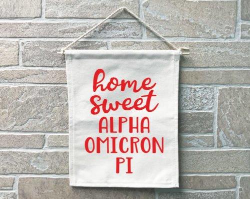 Alpha Omicron Pi Home Sweet Home Banner