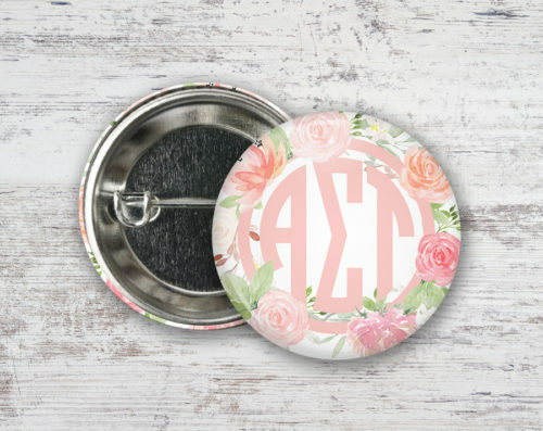 Alpha Sigma Tau Pretty In Pink Button