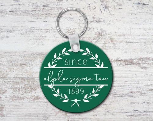 Alpha Sigma Tau Since Established Keyring