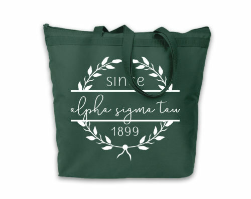 Alpha Sigma Tau Since Established Tote bag