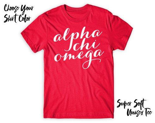 Alpha Chi Omega Script Tee