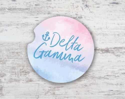 Delta Gamma Sandstone Car Cup Holder Coaster