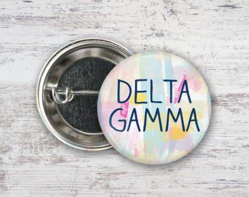 Delta Gamma Pastel Strokes Button