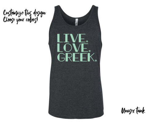 Live Love Greek Tank