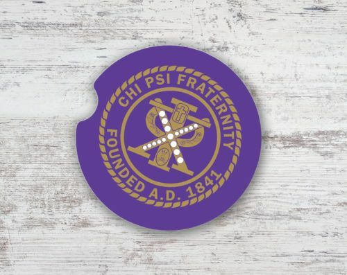 Chi Psi Seal Car Coaster