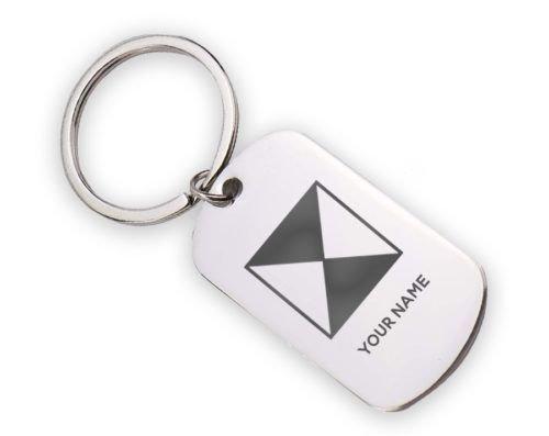 Chi Psi Logo Stainless Keychain