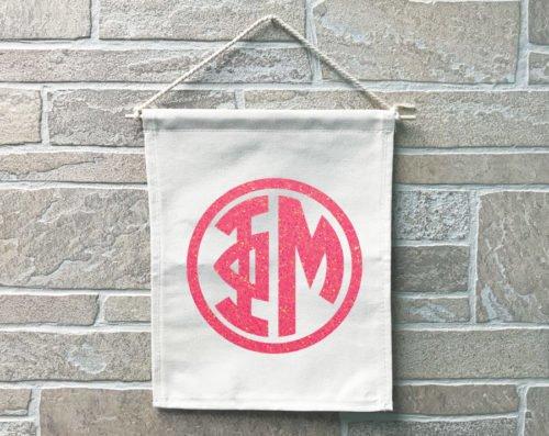 Phi Mu Monogram Banner
