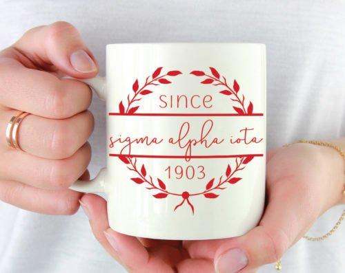 Sigma Alpha Iota Since Established Coffee Mug