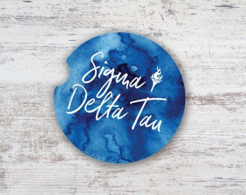 Sigma Delta Tau Sandstone Car Cup Holder Coaster