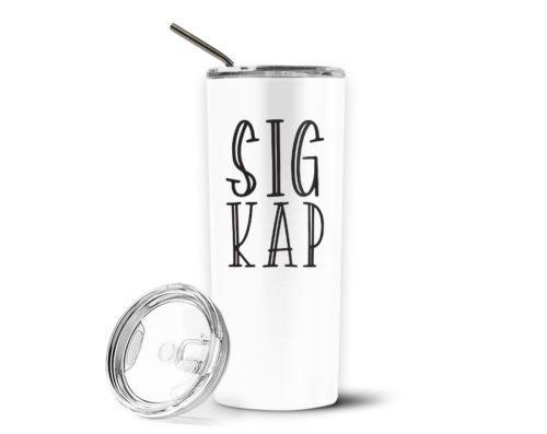 Sigma Kappa Inline Stainless Tumbler