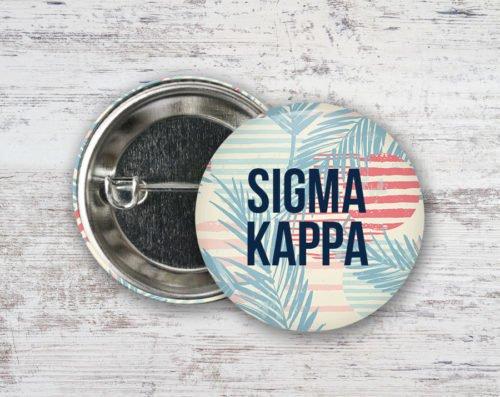 Sigma Kappa Paradise Found Button