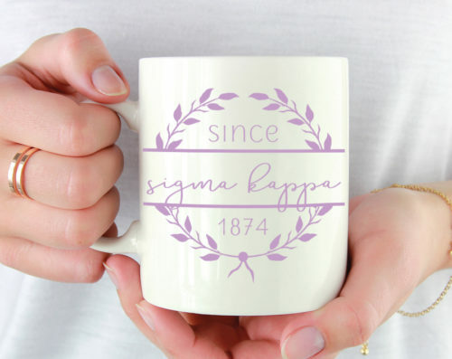 Sigma Kappa Since Established Coffee Mug