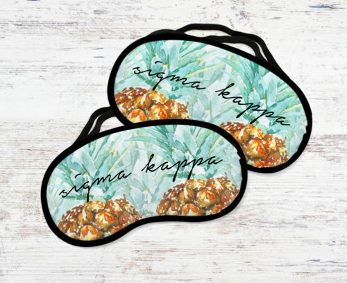 Sigma Kappa Pineapple Eye Mask