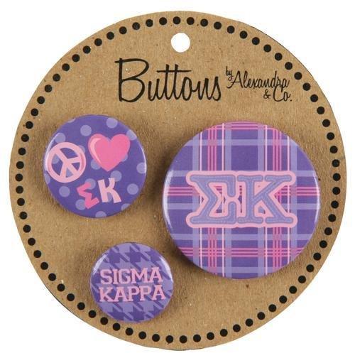 Sigma Kappa Button 3 pack
